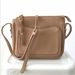 Beige Mini Crossbody Swing Bag